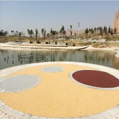 彩色生态露骨料透水混凝土施工