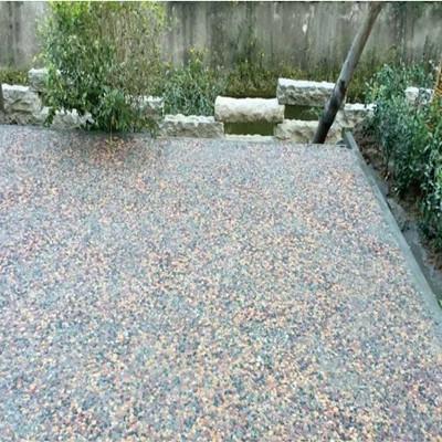 景区小道彩色生态露骨料混凝土铺设