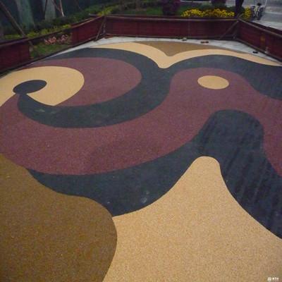 彩色透水胶粘石地坪