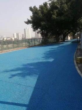 合川康宁医院彩色透水地坪